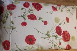 Pohankový polštář s povlakem (naše ruční práce) cca 45 x 70 cm