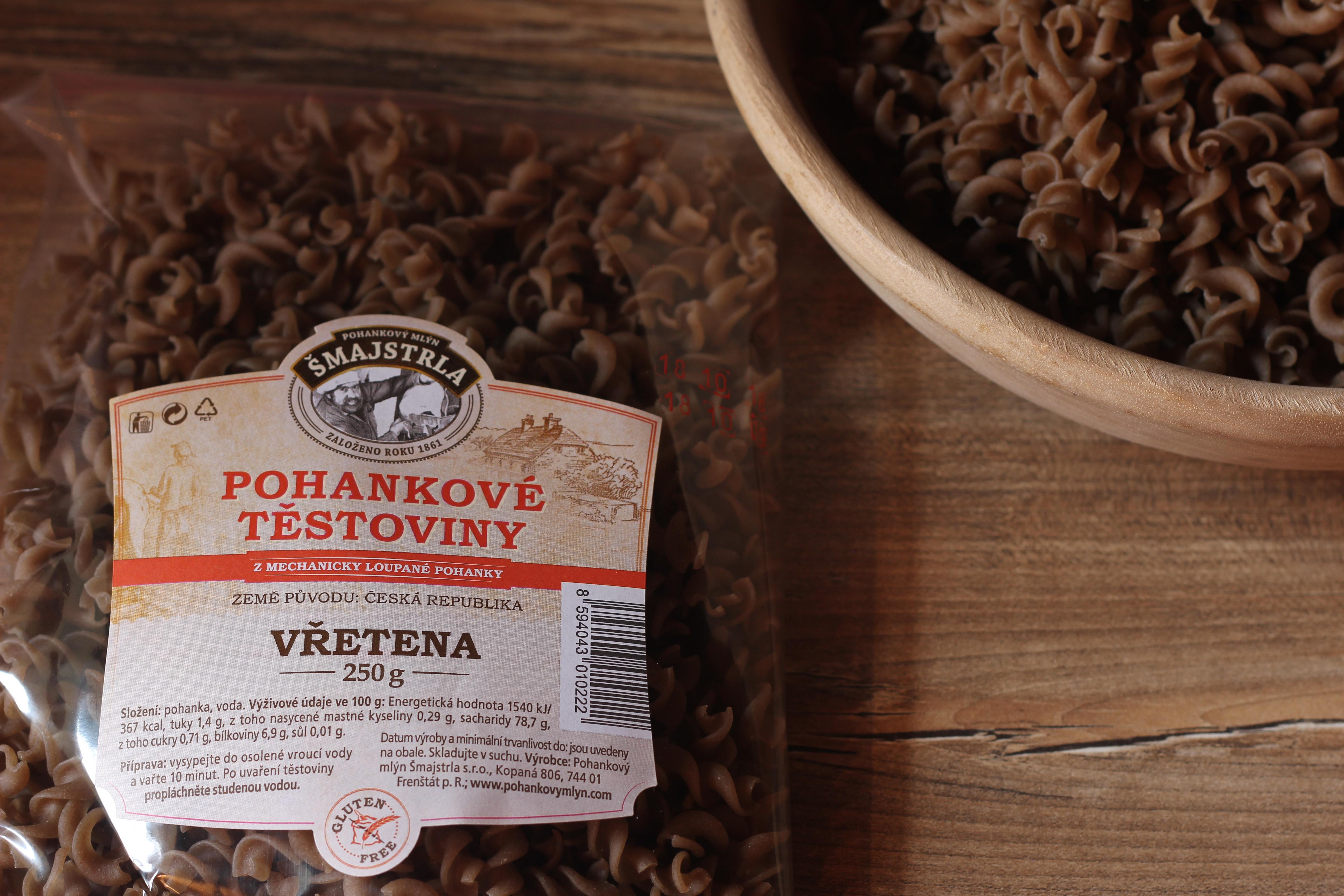 Pohankové těstoviny - vřetena 250g